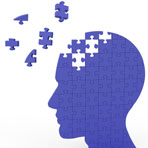 Head Puzzle Shows Slipping Ideas Or Thoughts